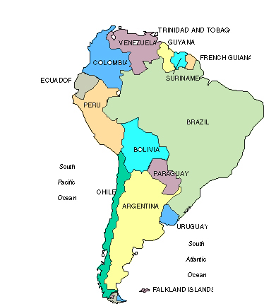 South America Vacation Rentals USA - Map usa south