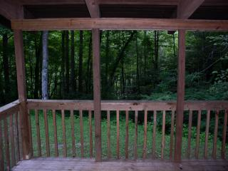 View from the front porch of the Nantahala Mountain Cabin