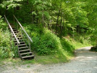 Steps leading to another nearby vacation rental